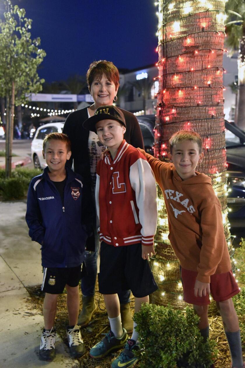 Lynette Henry with grandsons Danny, Luke and Hayden