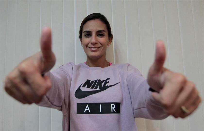 Fotografía del 17 de agosto de 2018, de la mexicana Paola Espinosa, medallista olímpica de saltos, durante una entrevista con Efe, en Ciudad de México (México). EFE