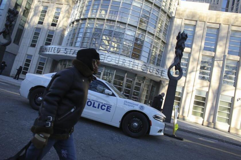 """Vista del exterior del tribunal del Distrito Sur en Brooklyn, Nueva York (EE.UU.), donde se llevó a cabo el juicio del narcotraficante mexicano Joaquín """"El Chapo"""" Guzmán. EFE/Archivo"""