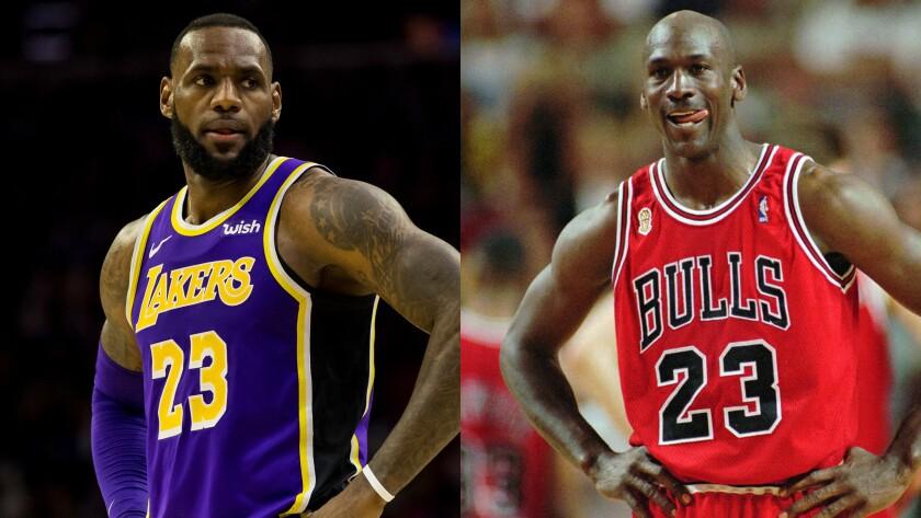 sale retailer fbd9b 468bc LeBron James passes Michael Jordan on NBA's all-time scoring ...