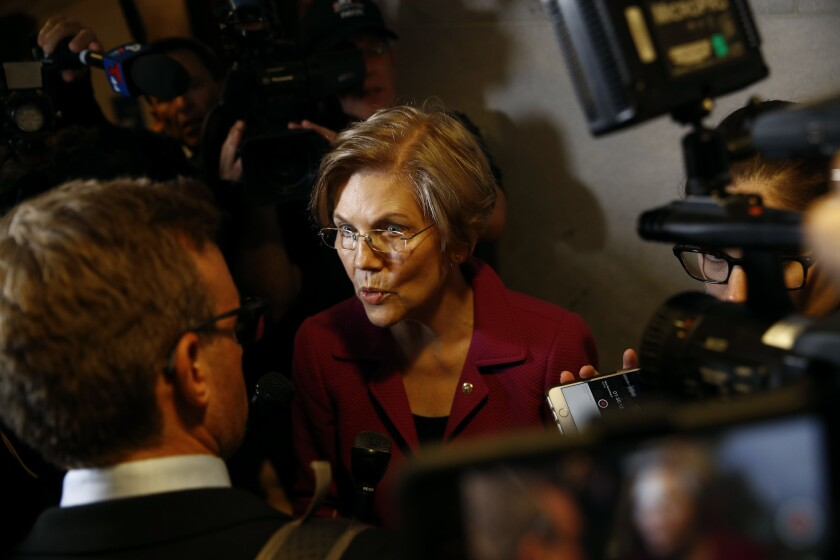 Sen. Elizabeth Warren suggested late Thursday that the FBI may have obtained evidence Brett Kavanaugh lied under oath.