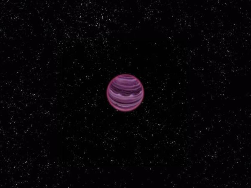 An artist's conception of a free-floating planet.