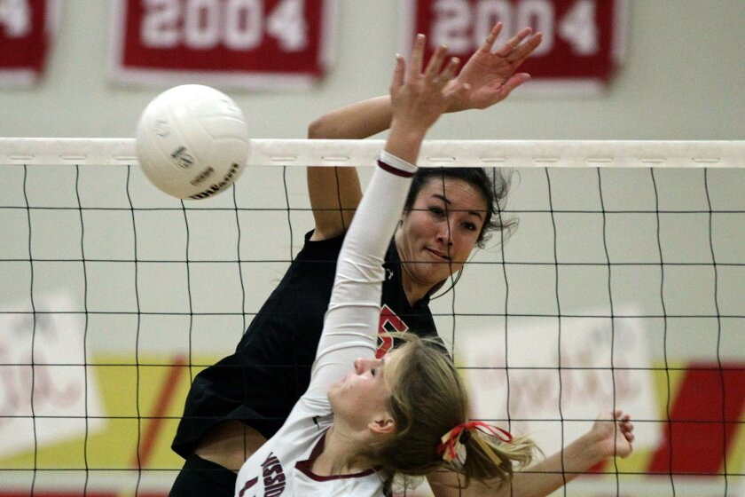 Santa Fe Christian sophomore Lexi Sun is a force at the net for the Eagles.