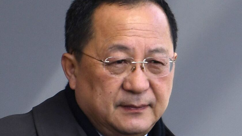 North Korean Foreign Minister Ri Yong Ho is expected to visit Sweden Thursday to meet with his Swedish counterpart Margot Wallstrom.