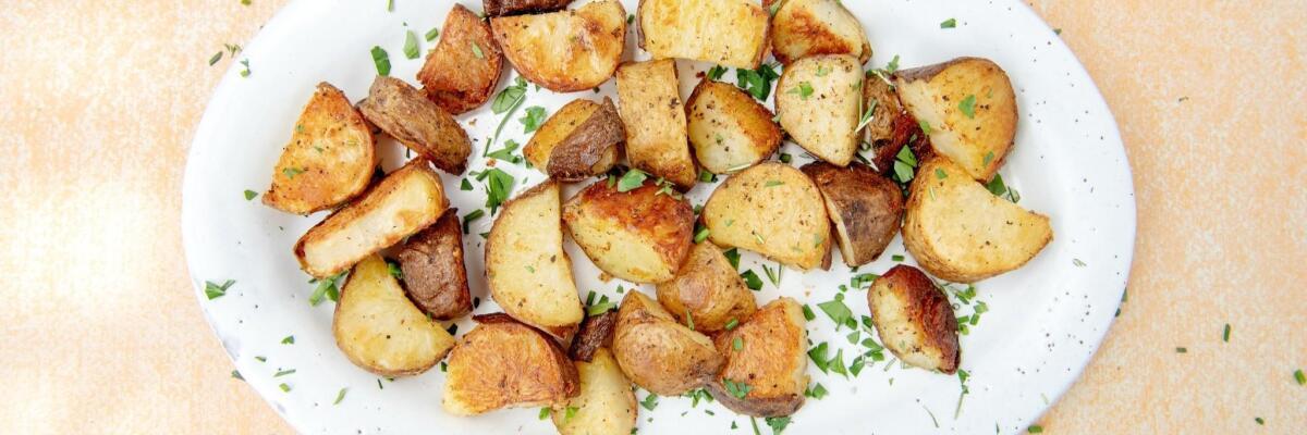 Roasted potatoes.