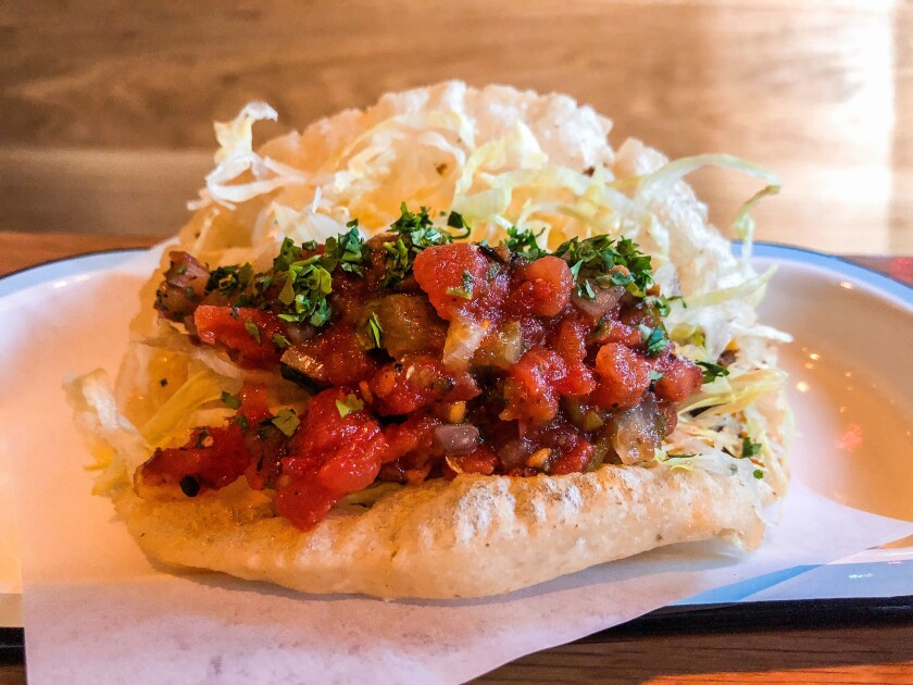 Amá•cita fried tacos puffed taco