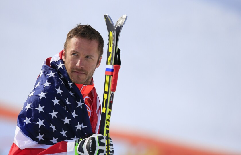 U.S. skier Bode Miller, shown at the 2014 Olympics in Sochi, Russia, hasn't announced whether or not he will retire after severing his right hamstring in February at the world championships.