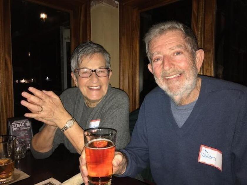 Stephanie and Don Shapiro join the happy hour at Hennessy's.