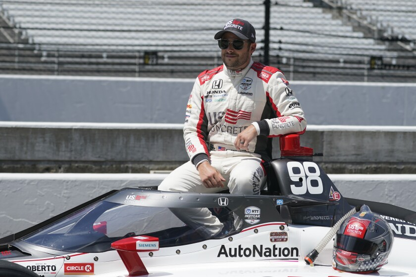 Marco Andretti posted a four-lap average of 231.351 mph in Indianapolis 500 qualifying on Aug. 15, 2020.