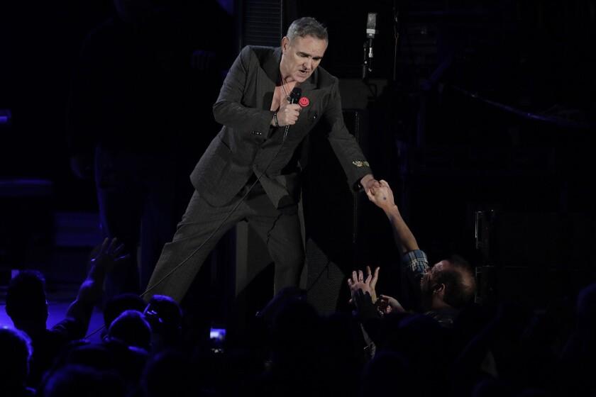 HOLLYWOOD, CA, FRIDAY, NOVEMBER 10, 2017 - Morrissey performs at the Hollywood Bowl. (Robert Gauth