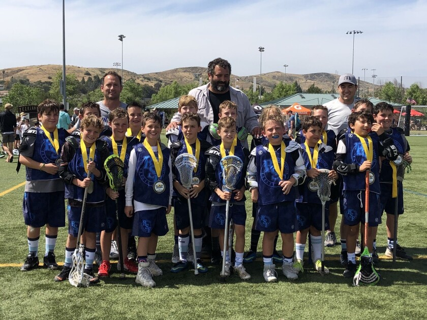 The RSF Lacrosse Eagles 3rd/4th grade boys team champions.