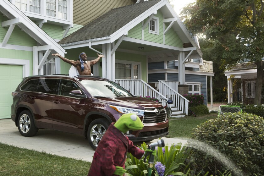 Publicis Groupe owns the Saatchi & Saatchi LA advertising agency in Torrance, which created this Toyota ad starring Kermit the Frog and actor Terry Crews.