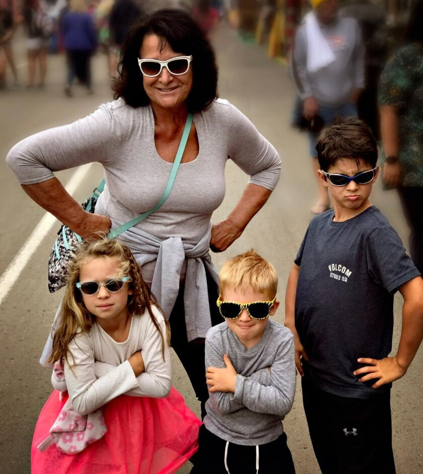 Diana Todoro Vorsheck and her grandchildren Gianna, Will and John III at the San Diego County Fair last year.