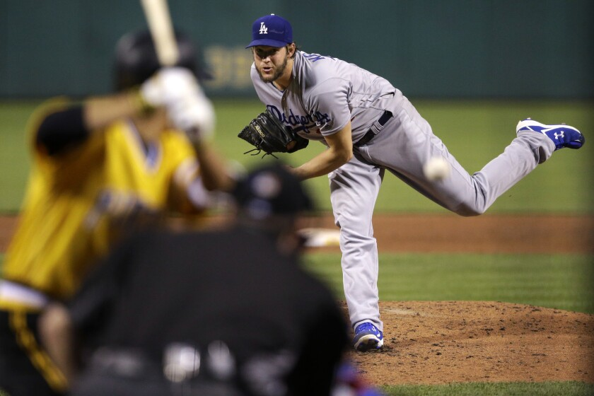 Clayton Kershaw of the Dodgers gives up more than two earned run in a game for only the second time in 16 starts.