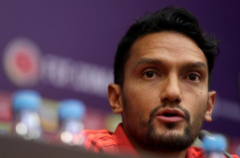 En la imagen, el centrocampista colombiano Abel Aguilar. EFE/Archivo