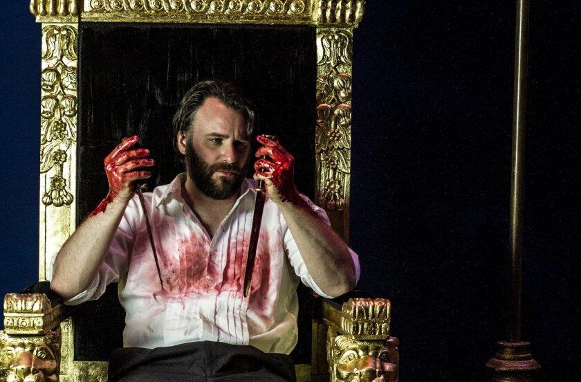 "Sean Yael-Cox plays the title role in Intrepid Shakespeare Company's ""Macbeth."" CREDIT: Daren Scott"