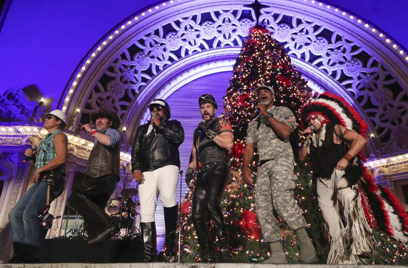 Spreckels Christmas Lights 2020 Village People's 'Y.M.C.A.' inducted by Library of Congress, as