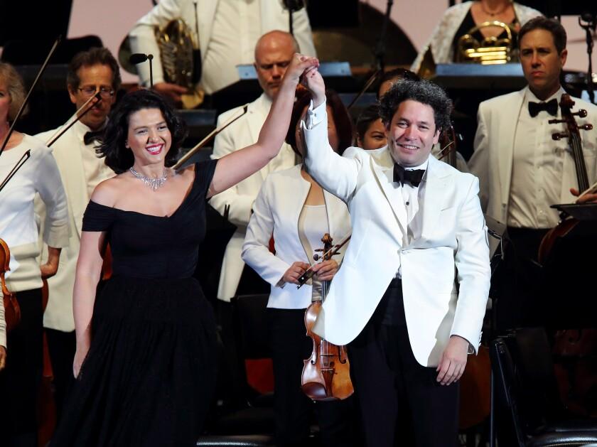 Khatia Buniatishvili and Gustavo Dudamel