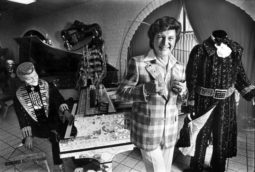 The former Las Vegas mansion of Liberace, seen here at his Liberace Museum in 1979, is for sale. The museum, also in Las Vegas, shut down in 2010.