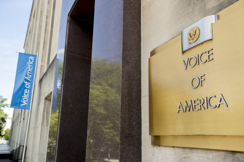 The Voice of America building in Washington