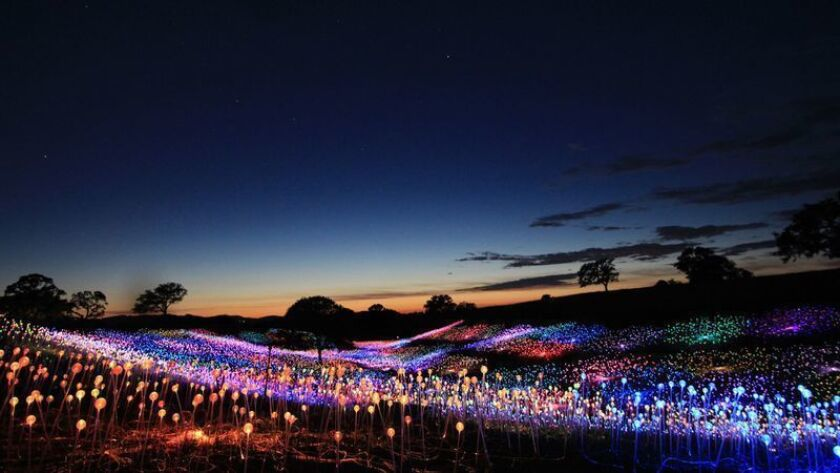 """Field of Light at Sensorio"" is a sculpture that combines nature, art and technology in Paso Robles."