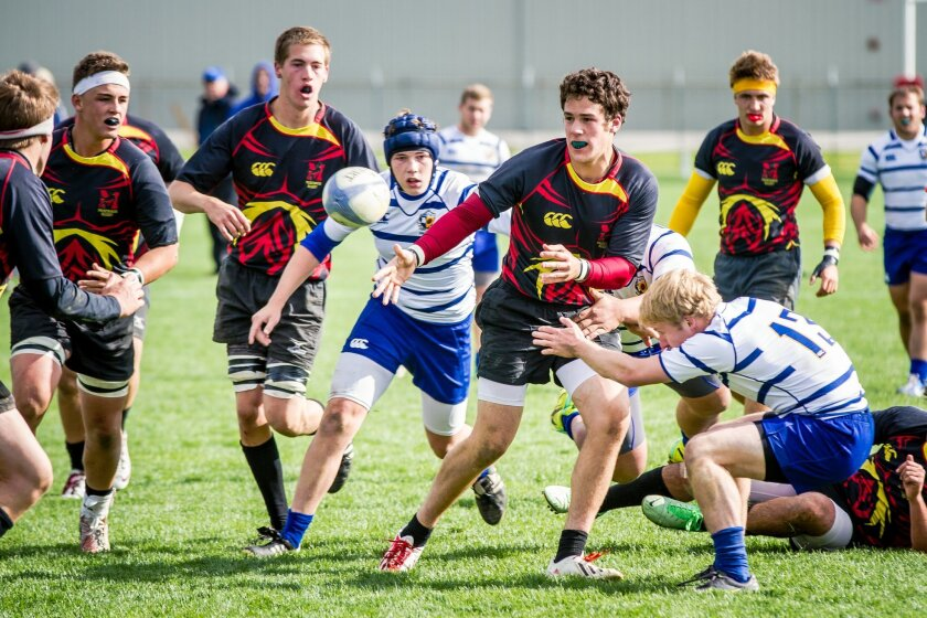 Mustangs on the charge at last year's U18 High School Nationals. The club is hosting a free rugby demonstration day at 10 a.m.  Nov. 9 at Ocean Air Park.