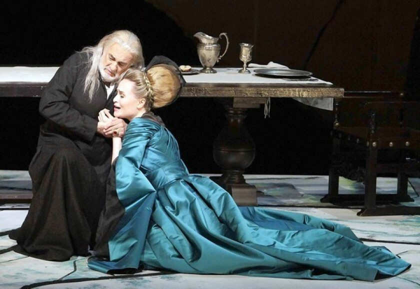 Review: 'The Two Foscari' and Plácido Domingo rise to the occasion