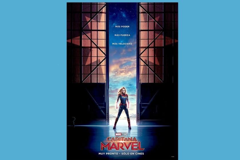 Superior, avanzada, rápida... eso se leía en el póster español de Capitana Marvel, lo que generó polémica en redes sociales.