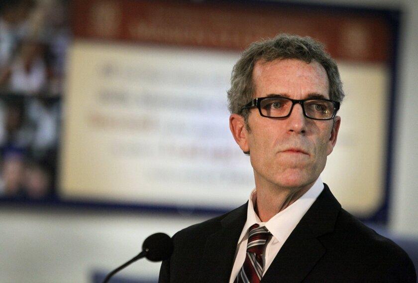 School board president John Lee Evans