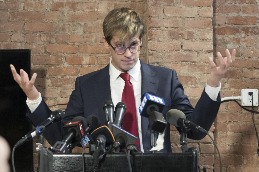 NYU has postponed Milo Yiannopoulos' discussion that had been scheduled for Wednesday.
