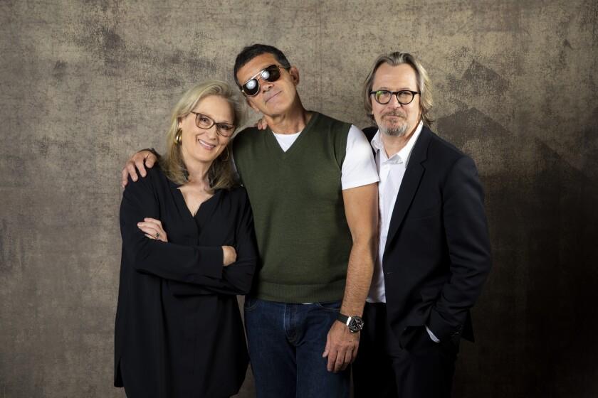 Actors Meryl Streep, Antonio Banderas and Gary Oldman