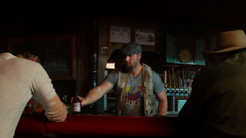 """Former Dodgers reliever Eric Gagne plays a bartender in the new movie about Bill """"Spaceman"""" Lee."""