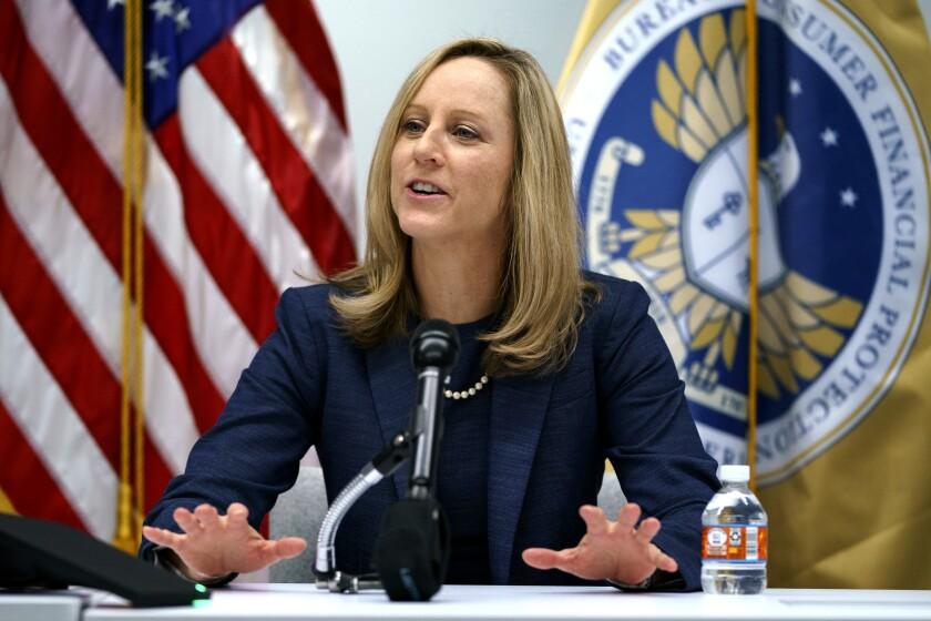Consumer Financial Protection Bureau chief Kathy Kraninger