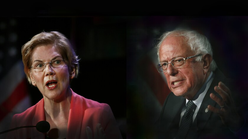 Elizabeth Warren and Bernie Sanders will face off Tuesday night on a debate stage in Des Moines. The senators' presidential campaigns have clashed this week.