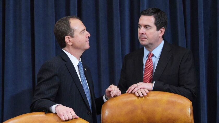 Rep. Adam Schiff (D-Burbank) and Rep. Devin Nunes (R-Tulare) have been at odds over classified information involving secret surveillance that started during the 2016 presidential campaign.