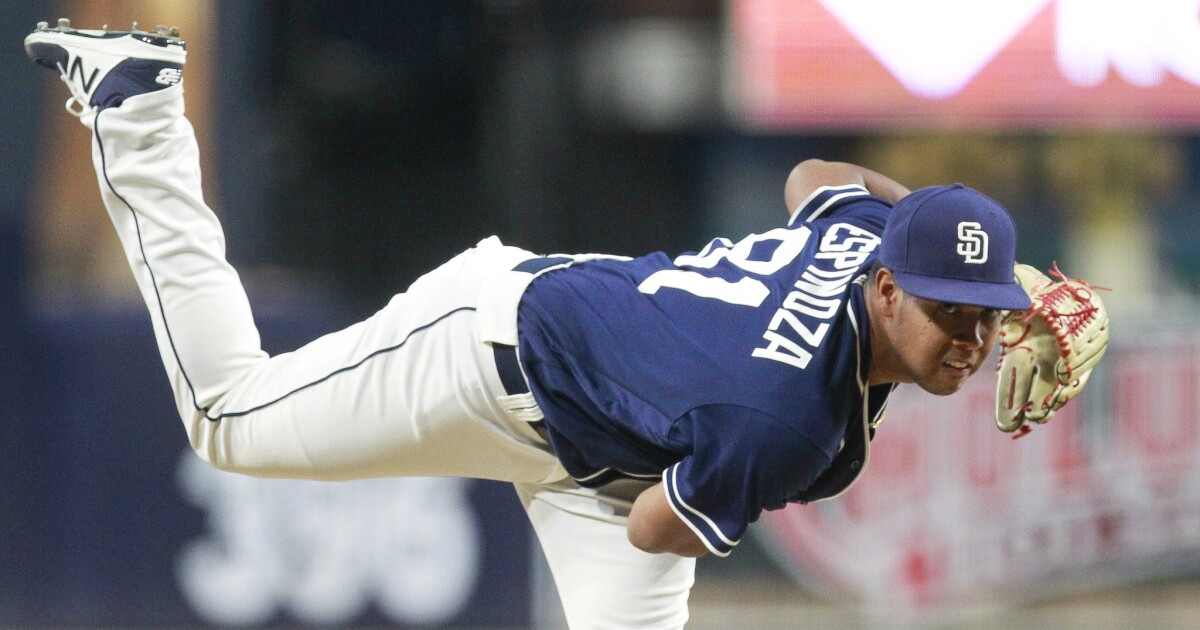Padres notes: Espinoza's repeat rehab going well; four new outfielders