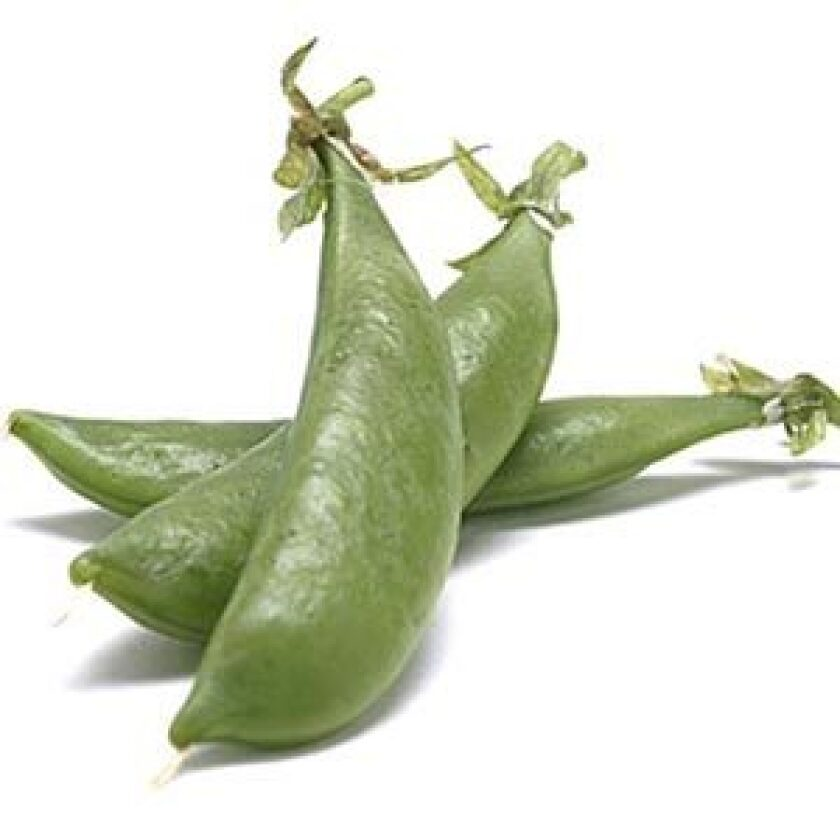 IT'S A SNAP: Sugar snap peas.