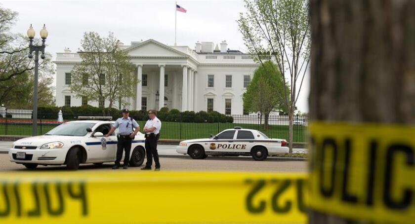 La policía acordona una zona cerca a la Casa Blanca. EFE/Archivo