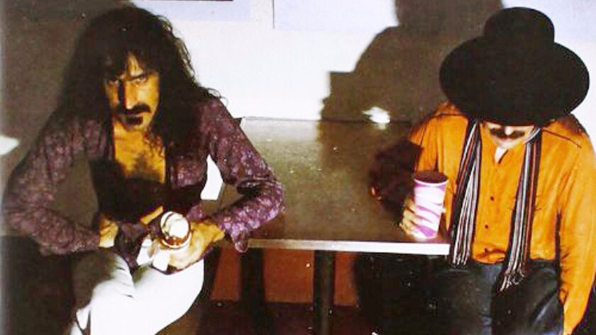 "Frank Zappa, left, with Don Van Vliet, also known as Captain Beefheart. The pair collaborated on the 1975 album ""Bongo Fury"" and Zappa produced ""Trout Mask Replica,"" the avant-garde rock album by Captain Beefheart and His Magic Band."