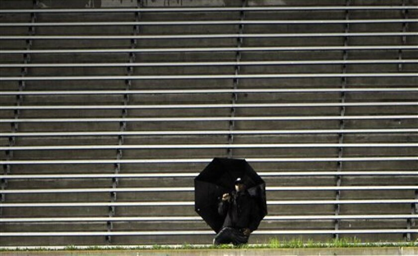 A lone fan watches the New York Yankees play Baltimore Orioles from the bleachers during the second inning of a baseball game Tuesday, Sept. 6, 2011 at Yankee Stadium in New York. (AP Photo/Bill Kostroun)