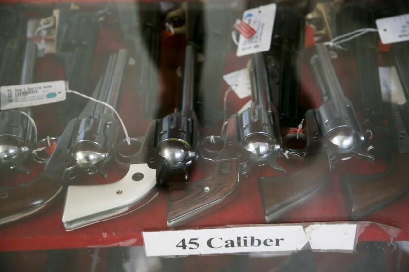 .45-caliber guns at Dong's Guns, Ammo and Reloading in Tulsa, Okla.