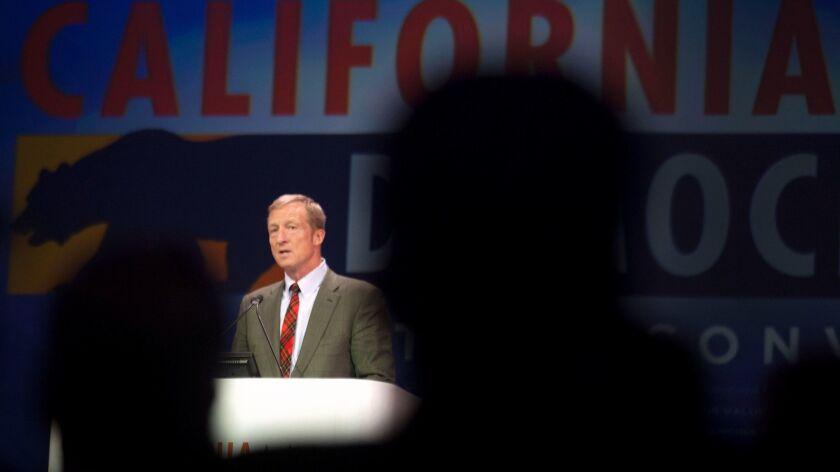 Billionaire Democratic philanthropist Tom Steyer hopes to help mobilize voters to unseat seven California Republicans.
