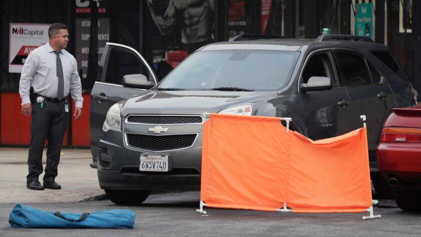 SAN BERNARDINO CA JUNE 22, 2018 -- An investigation is underway Friday morning, June 22, 2018, at