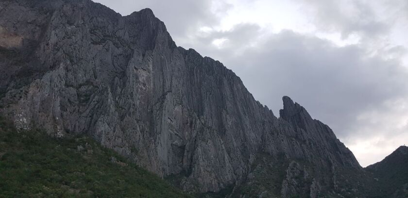 The El Potrero Chico peak in Hidalgo, Mexico.