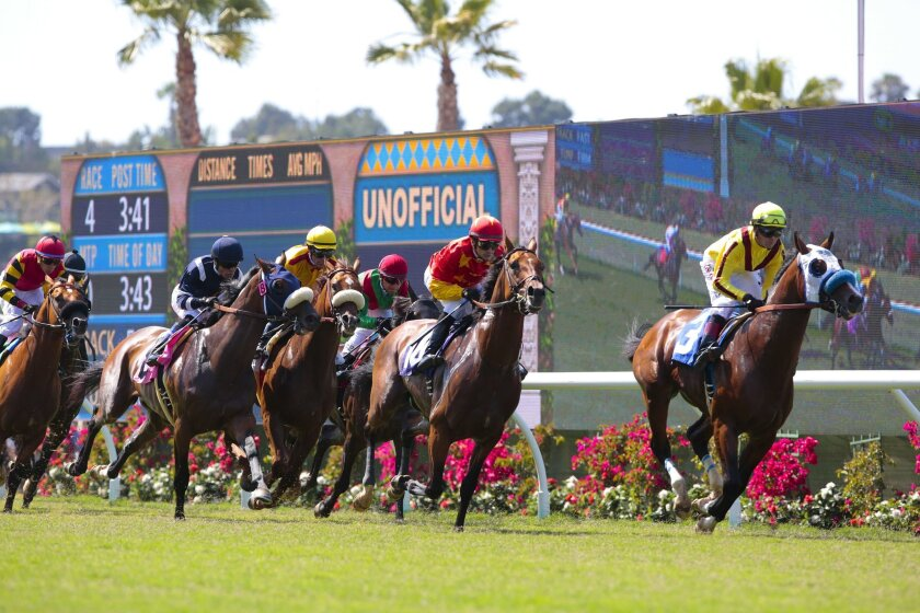 Fitch Ratings lowered its debt rating for $39.9 million in Del Mar Race Track Authority bonds over declining attendance at tracks statewide, which might be worsened by continued social distancing measures this year.
