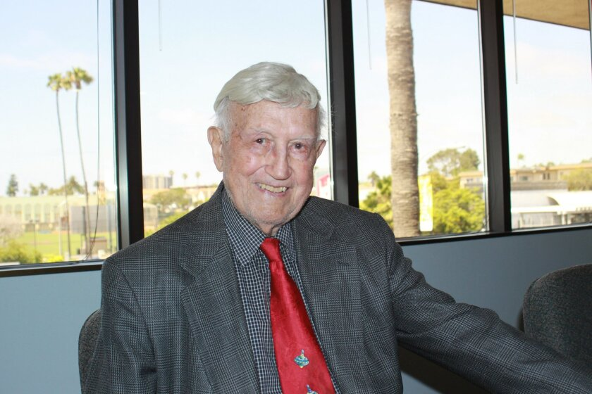Almost 100-year-old La Jolla resident Frank Tabor