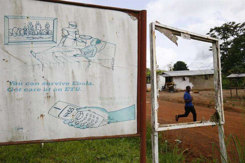 An Ebola awareness billboard. EFE/EPA/FILE
