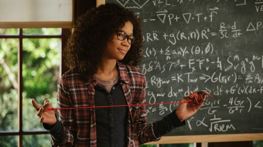 "Storm Reid as Meg Murry in Disney's ""A WRINKLE IN TIME,"" an adventure based on Madeleine L'Engle's t"