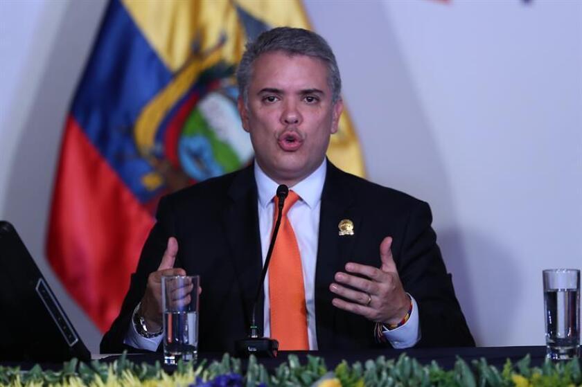 En la imagen, el presidente de Colombia, Iván Duque. EFE/Archivo