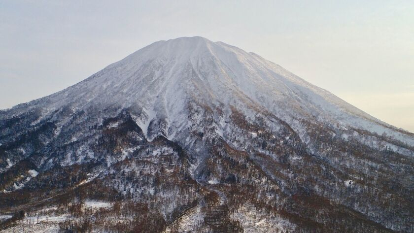 Skiing with a view in Hokkaido. Photo courtesy of Propeak Niseko